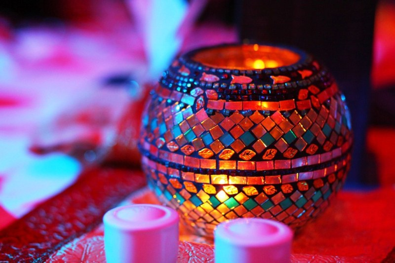 Colorful decoration at a Ramadan tent in a Dubai hotel