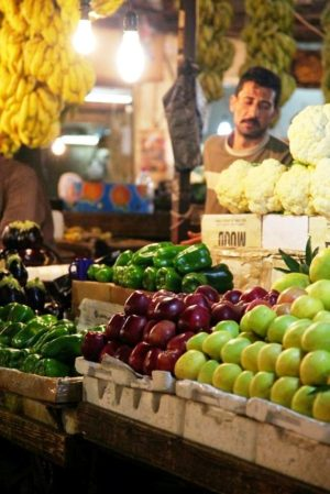 Fruits & vegetables market in Amman, Jordan