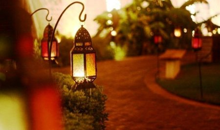 Ramadan Lanterns at a Dubai Hotel.