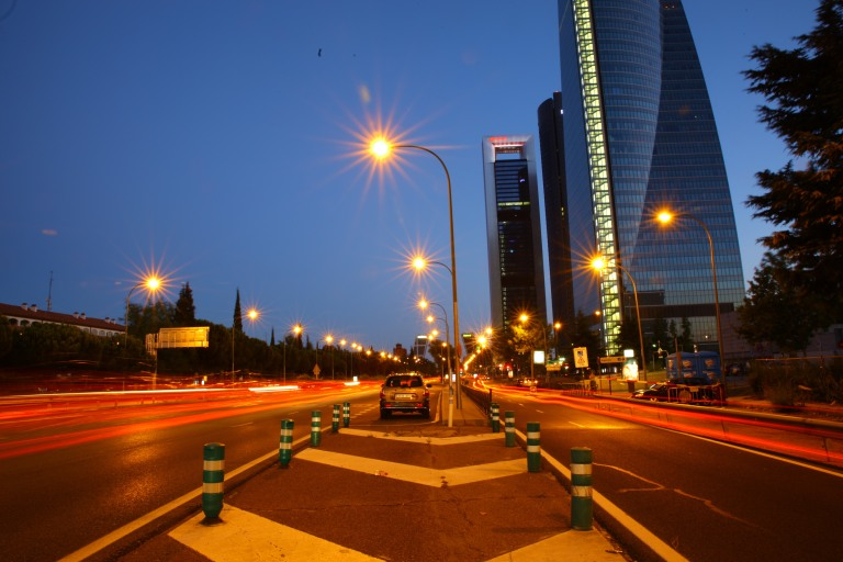Long Exposure shot at Sunset in Madrid