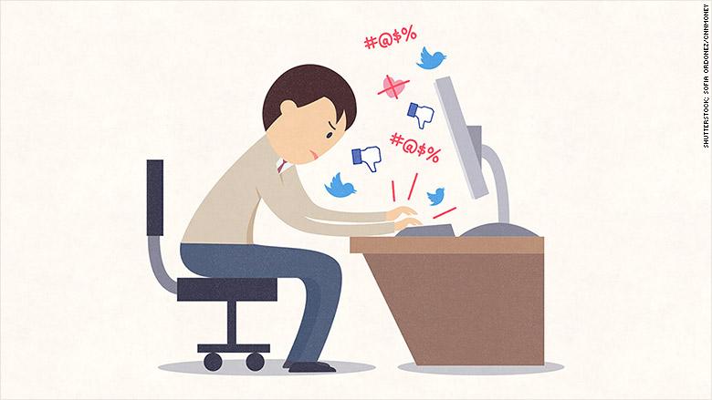 angry at social media